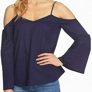 1.State Women's Cold Shoulder Bell Sleeve Blouse